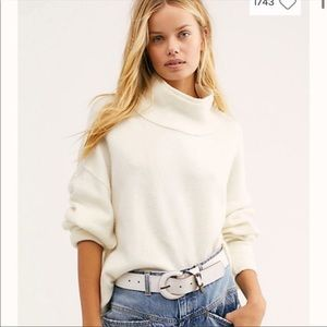 Free People Afterglow Mock Neck Sweater S
